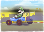 Luigi's Creepy Death Stare by TheBourgyman