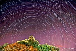 Purple Swirl - Star Trails by LironSamuels
