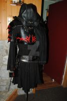women light leather armor  back view by Lagueuse