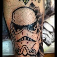 Stormtrooper tattoo in progress by jerrrroen