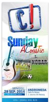 Vertical Banner SUNDAY ACOUSTIC (0,85x2m) by ignra