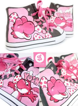 Pink Yoshi Shoes by Bobsmade
