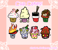 .: Cup Cakes :. by Chazx3