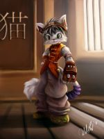 Martial art cat by cicakkia