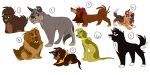 Doggy Adoptable Batch! 2/8 OPEN by Wolf-Chalk