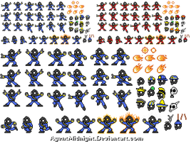 Pyro Man Sprites and Hats by AgentMidnight