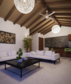 Palapa Living room interior by fragot