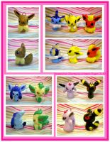 Eeveelution Charms by pookat