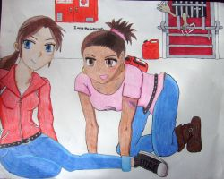 L4D - Zoey and Rochelle by FrenzyAtDaClub911