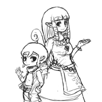 Zelda and Tetra [Sketch] by CheloStracks