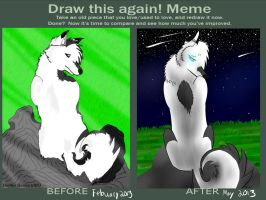 Draw this Again Meme: Whiterain by IcePhoenix202