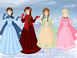 The March Sisters from the book, Little Women by aspiring-author