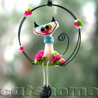funny cat and dog sculptures 5 by catshome
