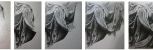 folds of statue process by DariaGALLERY