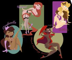 Fairy tale pinups by TeeterDance