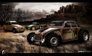 Citroen 2cv 1979 ratROD by yasiddesign