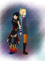 Me and Soccerfairy1 Soul Eater Own Selves by KCO1