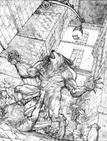 Werewolf Pencils by JerMohler