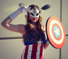 Justice (Lady CaptainAmerica Cosplay) by GlowingSnow