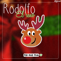 Rodolfo el reno - .psd and .png by HillyTutorials