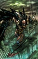 dark knight colored by nefar007