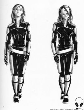 Twin Female Assassins by thoughttrainderailed