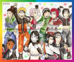 Naruto Dance Party by HalianFromPlanetZork