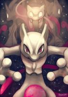 20th Anniversary - Mew and Mewtwo by Aonik