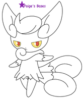 Female Meowstic Base/lineart by Paige-the-unicorn