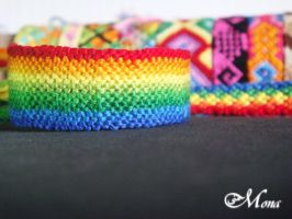 Rainbow Bracelet ..25.. by Noomy