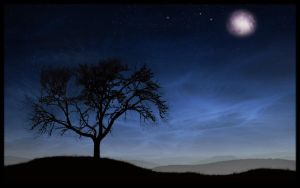 moon in the east by Tikeyphotoshop