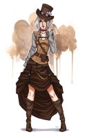 Steampunk girl by sashajoe