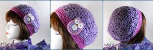 Kawaii Owl Crochet Hat by SailorMiniMuffin