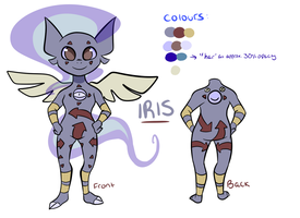 Iris ref sheet by Wimawile