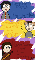 Fandoms, fandoms everywhere by DoctorUsername