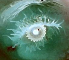 Green watercolor eye by GothicAmethyst