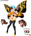 MOTHRA KAIJU GIRL by Witchking00