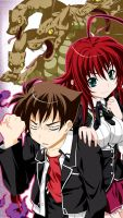 Rias Gremory and Issei Hyoudou by Maximilian-Destroyer