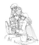 Vlad Dracula and his daughters. by maru-redmore