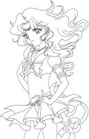 Sailor Neptune-Lineart by Ceres17