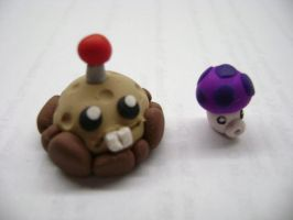 Potato Mine + Puff Shroom by Lord-Ackbar