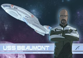 Star Trek USS BEAUMONT by Juggertha