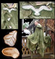 Barn Owl Leather Cloak Cape by TheCopperDragon2004