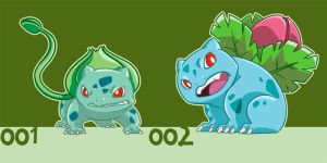 pokemon 001 002 by alienfirst
