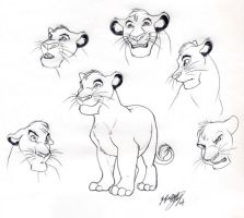 Cub Mufasa sketches by scullyiza