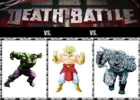Hulk vs Broly vs Doomsday by DarkFire1000
