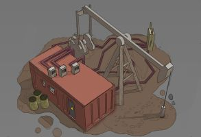 Oil Pump concept by mindschnapps