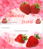 Strawberry Journal by Kittur-puff