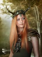 Antlered Forest Creature by Heavenia