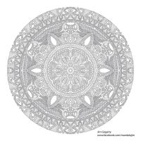 Freebie Colouring Mandala Project by Mandala-Jim